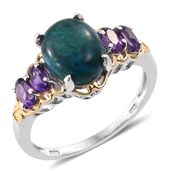 Table Mountain Shadowkite, Amethyst 14K YG and Platinum Over Sterling Silver Ring (Size 5.0) TGW 4.70 cts.