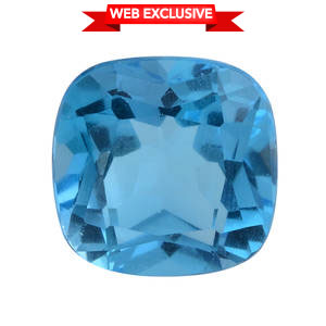 Electric Blue Topaz (Cush 13x13 mm) TGW 10.11 cts.