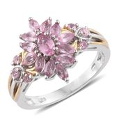 Mahenge Pink Spinel 14K YG and Platinum Over Sterling Silver Ring (Size 9.0) TGW 1.53 cts.