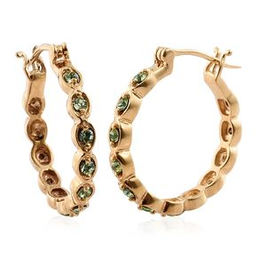 KARIS Collection - ION Plated 18K YG Brass Earrings Made with SWAROVSKI Peridot Crystal TGW 0.62 cts.