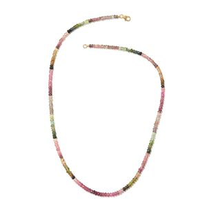 14K YG Multi-Tourmaline Necklace (18 in) TGW 48.00 cts.
