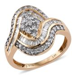 Doorbuster 14K YG White Diamond (G-H) Ring (Size 7.0) TDiaWt 1.50 cts, TGW 1.50 cts.