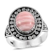 Peruvian Pink Opal Sterling Silver Ring (Size 8.0) TGW 3.15 cts.