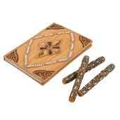 Cream Orange Handcrafted Embroidered Diary (7x5 in) with Matching Set of 3 Bedazzled Pen