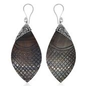 Bali Legacy Collection Grey Shell Sterling Silver Earrings