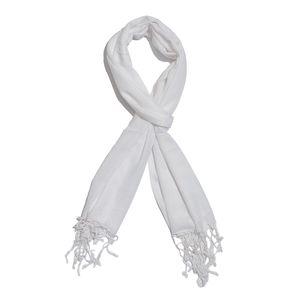 White 100% Modal Matty Weave Scarf (28x72 in)