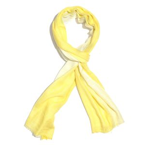 Yellow Ombre 100% Merino Wool Scarf (84x28 in)