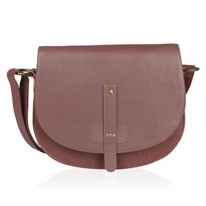 Rust Brown RFID Leather Sling Bag (10.75x3.25x8 in)