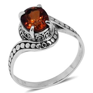Bali Legacy Collection Sunfire Orange Quartz Sterling Silver Ring (Size 5.0) TGW 1.50 cts.