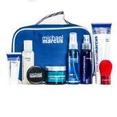 Michael Marcus 9 Piece Set Includes Makeup Bag