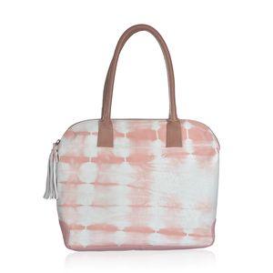 Pink Genuine Leather RFID Tie-dye Shoulder Bag (16.5x12x3 in)