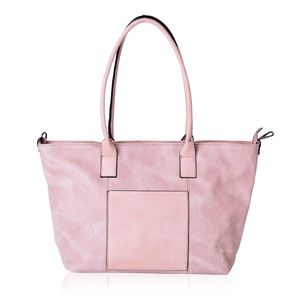 Blush Faux Leather Tote Bag (20x14x11.6 in)