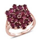 Niassa Ruby, Ruby 14K RG Over Sterling Silver Ring (Size 7.0) TGW 5.18 cts.