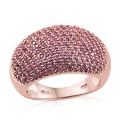 Madagascar Pink Sapphire 14K RG Over Sterling Silver Ring (Size 7.0) TGW 1.99 cts.