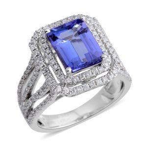 One Time Only ILIANA 18K WG Premium AAA Tanzanite, Diamond Ring (Size 7.0) TDiaWt 0.65 cts, TGW 3.00 cts.