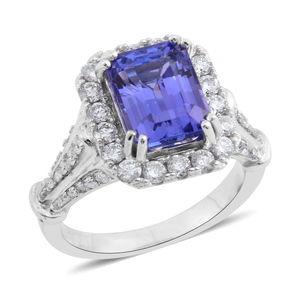 ILIANA 18K WG Premium AAA Tanzanite, Diamond Ring (Size 6.0) TDiaWt 0.85 cts, TGW 3.98 cts.