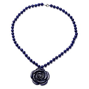 Lapis Lazuli Sterling Silver Necklace (18 in) TGW 171.00 cts.