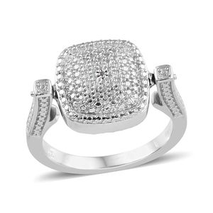 Yellow Diamond (IR), Diamond ION Plated 18K YG and Platinum Bond Brass Accent Reversible Ring (Size 7.0)