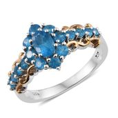 Malgache Neon Apatite 14K YG and Platinum Over Sterling Silver Ring (Size 6.0) TGW 1.68 cts.