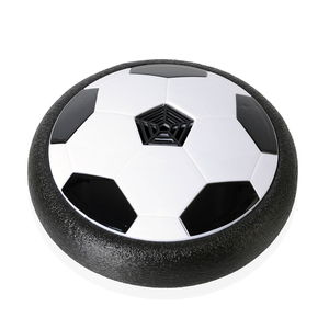 Black and White LED Light Air Football (3.2x3.2 in) (4x1.5AAA Batteries Not Included)