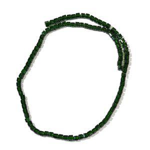 Gem Workshop Green Glass Beads Strand TGW 304.00 cts.