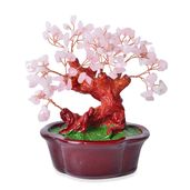 Resin, Galilea Rose Quartz Copper Stone Tree (7x6 in) TGW 1875.00 cts.