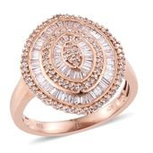 Natural Pink Diamond Vermeil RG Over Sterling Silver Ring (Size 10.0) TDiaWt 1.00 cts, TGW 1.00 cts.