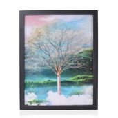 Home Decor Flower & Trees 3D Painting with Photo Frame (16.7x12.7 in)