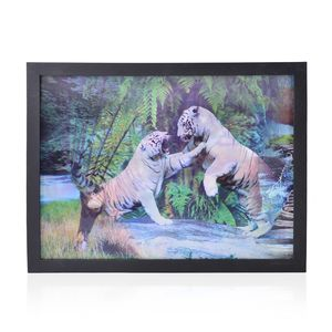 Tiger 3D Printed Framed Picture (17x13 in)