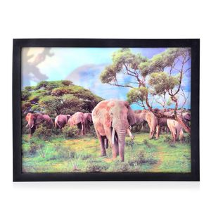 Safari 3D Printed Framed Picture (17x13 in)