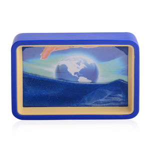 Home Décor Globe Pattern Sand Picture with Mirror (6.4x4.4 in)