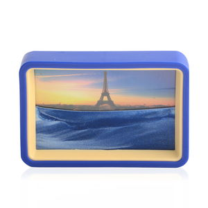 Home Décor Eiffel Tower Pattern Sand Picture with Mirror (6.4x4.4 in)