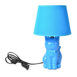 Blue Kitty Table Lamp (14x4 in)