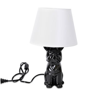 Black and White Pug Table Lamp (14x4 in)