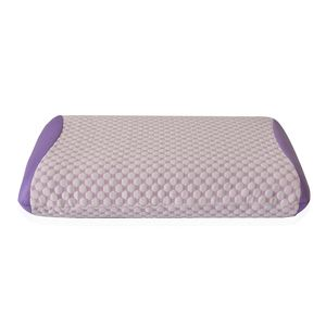 Lavender 3%Spandex and 97%Polyester Memory foam Pillow (23.62x15.74x5.50 in)