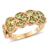 KARIS Collection - Hebei Peridot ION Plated 18K YG Brass Ring (Size 5.0) TGW 2.80 cts.