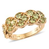 KARIS Collection - Hebei Peridot ION Plated 18K YG Brass Ring (Size 6.0) TGW 2.80 cts.