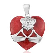 Bali Legacy Collection Sponge Coral Sterling Silver Pendant without Chain TGW 11.83 cts.