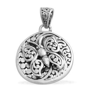 Bali Legacy Collection Sterling Silver Butterfly Engraved Pendant without Chain (3.9 g)