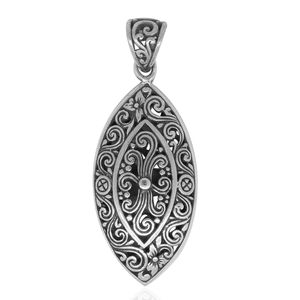 Bali Legacy Collection Sterling Silver Openwork Pendant without Chain