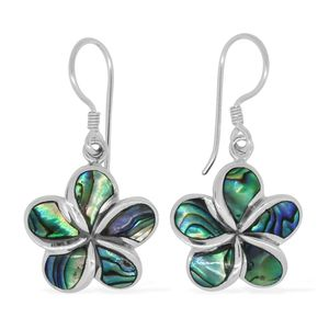 Bali Legacy Collection Abalone Shell Sterling Silver Flower Earrings