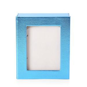 Blue 4 Page Earrings Book with Transparent window (8.6x7.1x2.5 in)