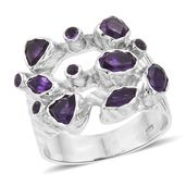 Artisan Crafted Amethyst Sterling Silver Ring (Size 6.0) TGW 2.58 cts.