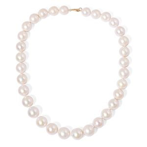 14K YG White Edison Pearl (11-15 mm) Necklace (18 in)