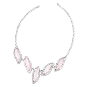 Pink Shell Black Oxidized Iron Necklace (22 in) TGW 127.50 cts.