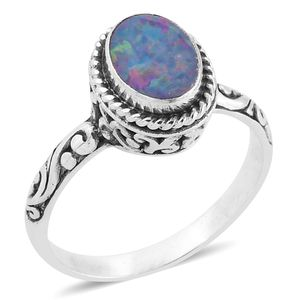 Bali Legacy Collection Australian Boulder Opal Sterling Silver Ring (Size 6.0) TGW 1.24 cts.