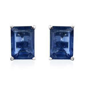 Himalayan Kyanite Platinum Over Sterling Silver Stud Earrings TGW 2.12 cts.