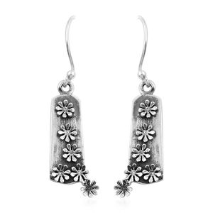 Artisan Crafted Sterling Silver Floral Earrings (3.7 g)
