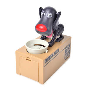 Black Spotty Dog Eat Coin Bank Box (6.5x3.19x6.6 in)