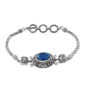 Bali Legacy Collection Peacock Quartz Sterling Silver Bracelet (7.00 In) TGW 6.29 cts.
